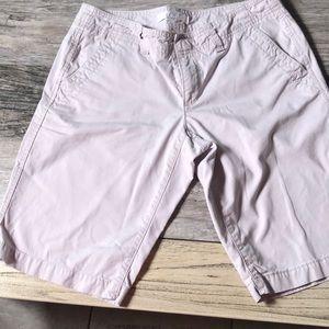 Ann Taylor Loft Khaki Bermuda Shorts Size 2